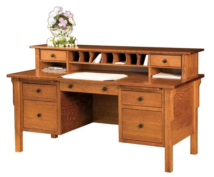 Amish Centennial Desk with Hutch